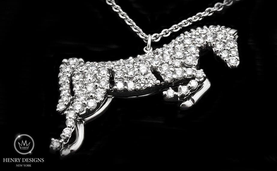 Great polo players know that an ideal #horse is small, very sturdy and strong. - #Equestrian #Jewelry #Stylish #Accessory #Design #Fashion #HenryDesigns #Trendy #Style #Look #Fashionable #Collection #necklace #diamonds #diamond