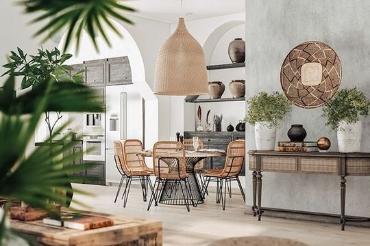 Balinese inspired dining room by RVR Interior Design ...