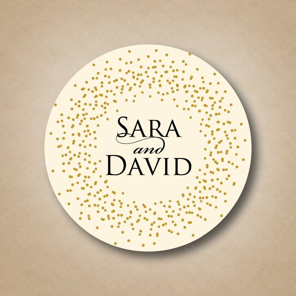 Custom Round Transparent Labels Stamped With Red,Gold,Silver,Clear Labels  Embossed With
