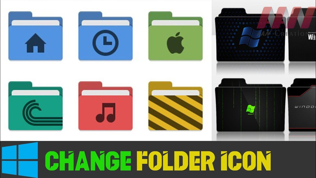 How To Change Folder Icon In Windows Make Your Windows Colorful Folder Icon Make It Yourself Folders