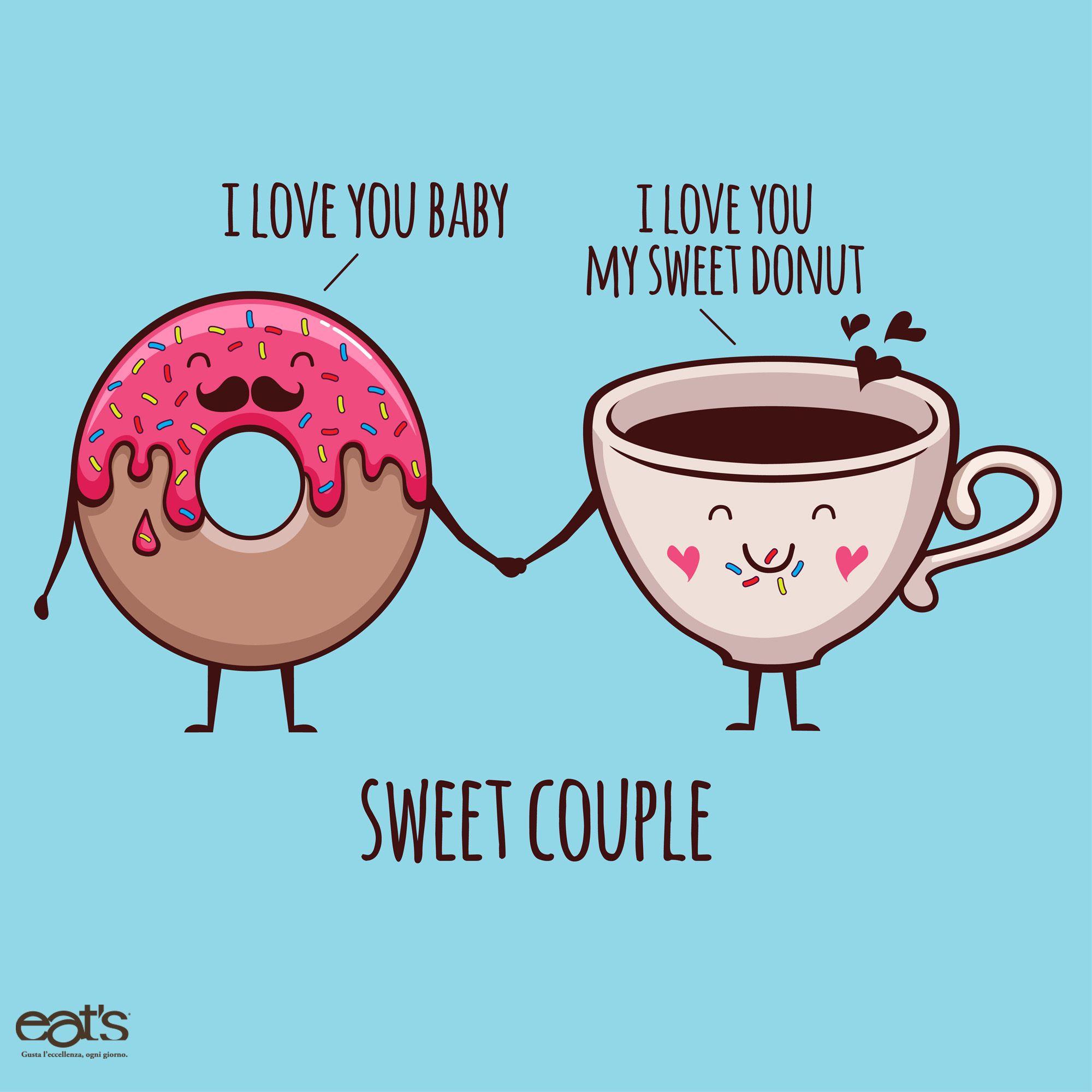 Sweet couple. #donut #cofee #breakfast #sweet #love ...