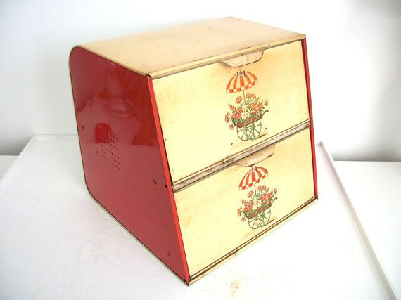 Vintage Double Decker Bread Box By Thedancingwren On Etsy 32 00