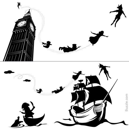 Big Ben Peter Pan Flight Peter Pan Tattoo Peter Pan Silhouette Peter Pan