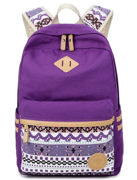 f5cf5c1d48 Ethnic Women Backpack for School Teenagers Girls Vintage Stylish School Bag  Ladies Canvas Backpack Female Back Pack High Quality