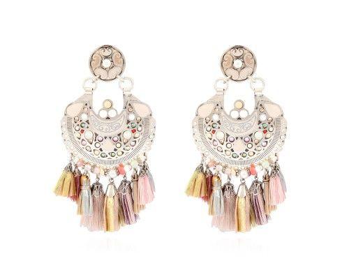 Fashion Femmes Émail Fleur Boucles d/'oreilles strass pompons Dangle Ear Stud Bijoux