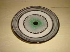 Kähler (Herman A. Kähler) dish. D: 11 cm from about 1940-50s. Signed HAK. #kahler #ceramics #pottery #hak  #dansk #keramik #dish #danish. SOLGT/SOLD