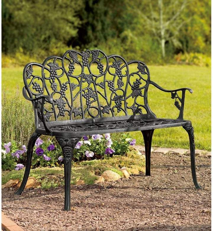 Plow Hearth Grape Aluminum Garden Bench Outdoor Garden Bench