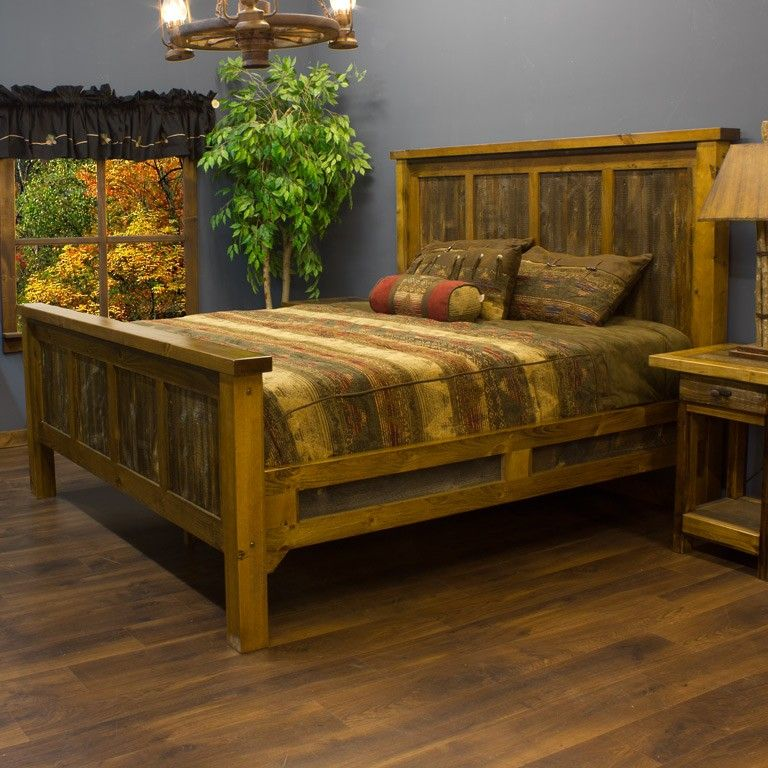 Barn wood bed Bedroom furnishings, Furniture, Barnwood bed