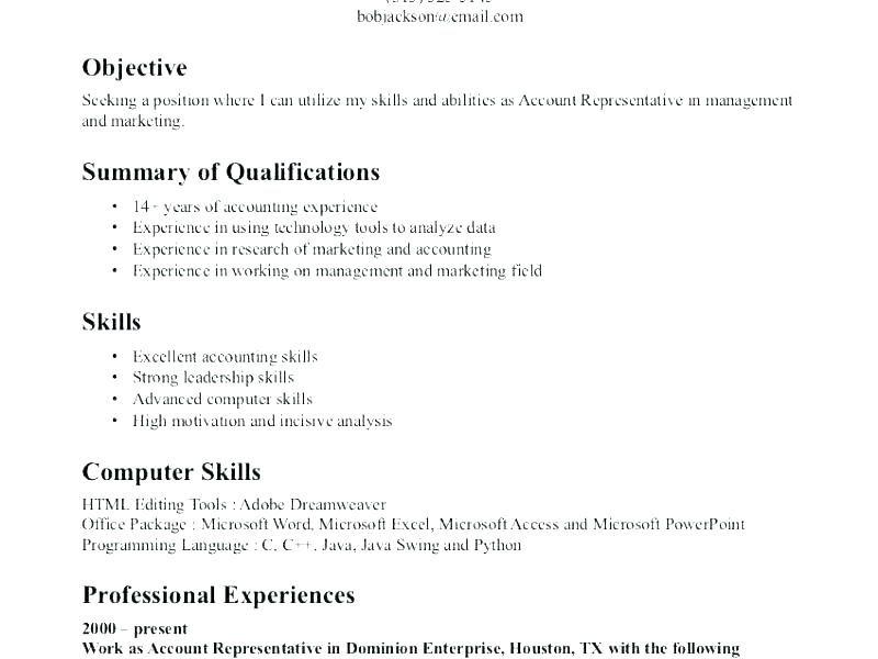 Best Example Resumes Resume Skills Example Design Templates