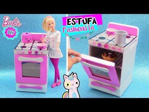 Como Hacer Estufa De Cocina Para Munecas Barbie Muebles Casa De