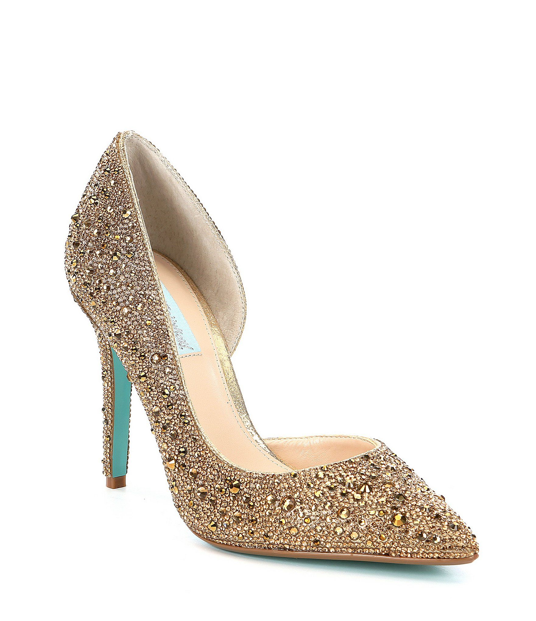 767c5a45975ee Blue by Betsey Johnson Hazil Jeweled Pumps in 2018