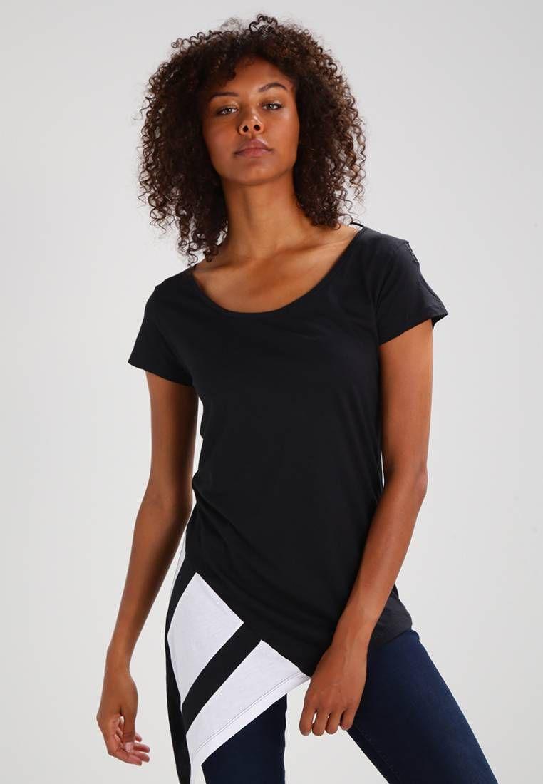 adidas Originals. EQT BLOCK Print T shirt blackwhite