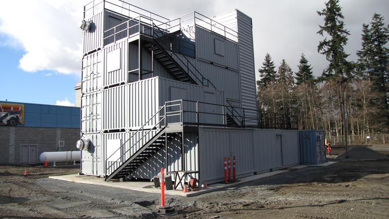 Shipping Containers Used To Create A Fire Training