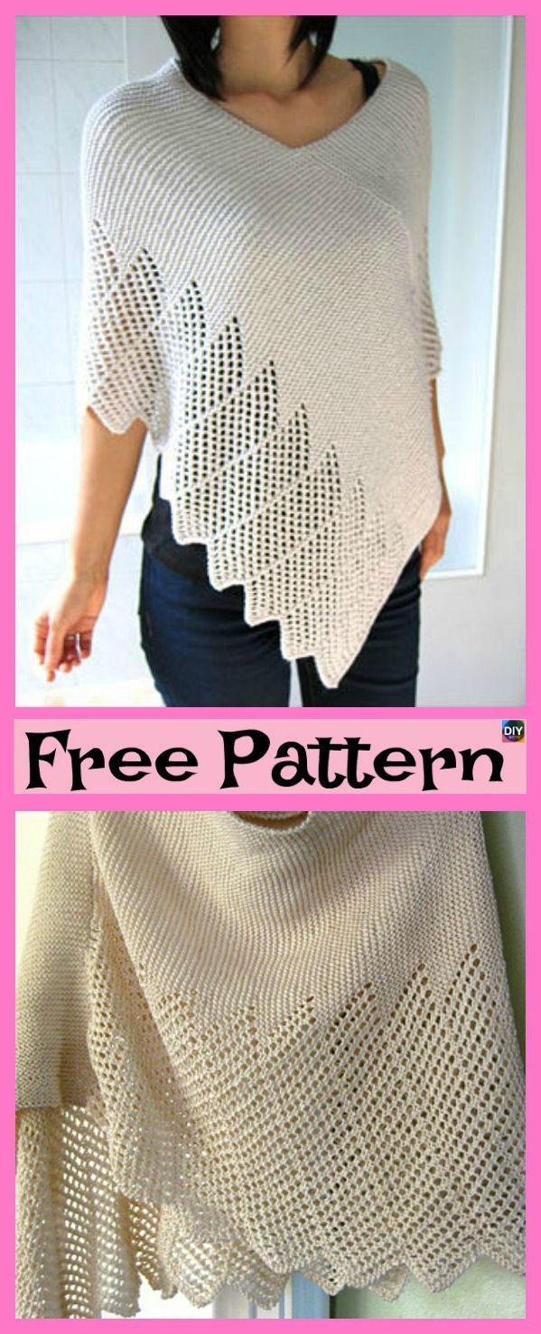 Pretty Knitting Lace Poncho Free Patterns Crochet Knit Patterns