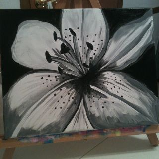 11x14 black and white flower painting facebook 11x14 black and white flower painting facebooktracysjoyfulpapercraft mightylinksfo