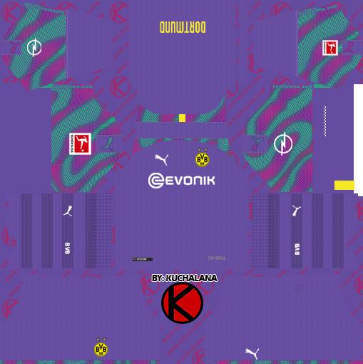 Borussia Dortmund 2019 2020 Kits Dream League Soccer Borussia Dortmund Dortmund Soccer Uniforms