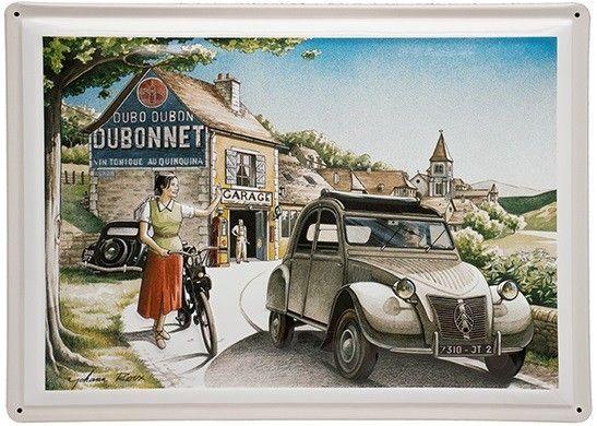 Plaque Metal Citroen 2 Cv 2cv Decoration Francaise Vintage Retro Garage France 2cv Citroen 2cv Voiture Vintage