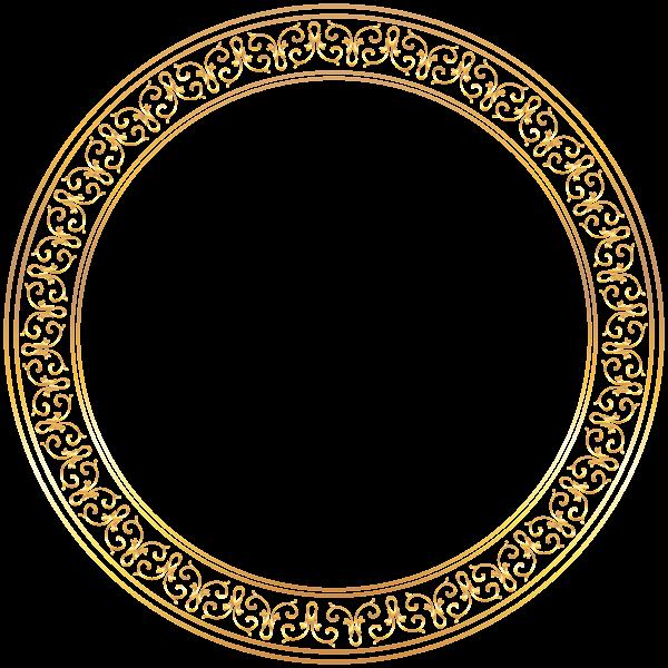 Round Golden Deco Frame Png Clip Art Image Drawing Stencils Clip Art Art Images