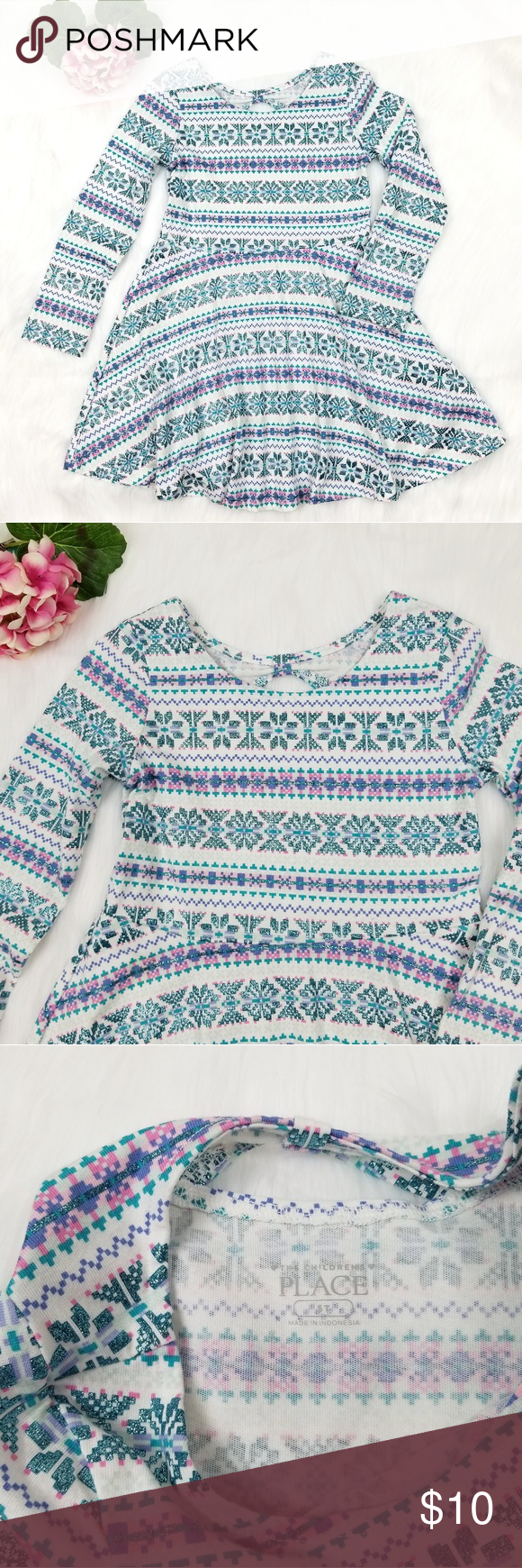 The Children S Place Long Sleeve Dress 5t Dresses 5t The Children S Place Place Dress [ 1740 x 580 Pixel ]