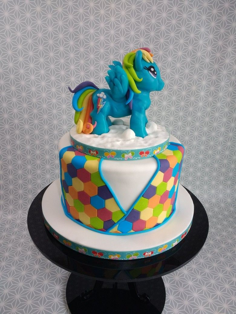 Rainbow dash cake. Made this for mine and my husband's