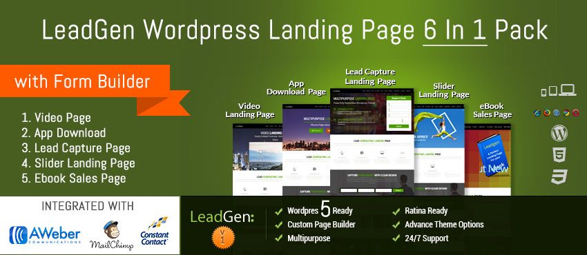 Wordpress Landing Page Theme Ebook Squeeze Page Video Lead - Squeeze page templates wordpress