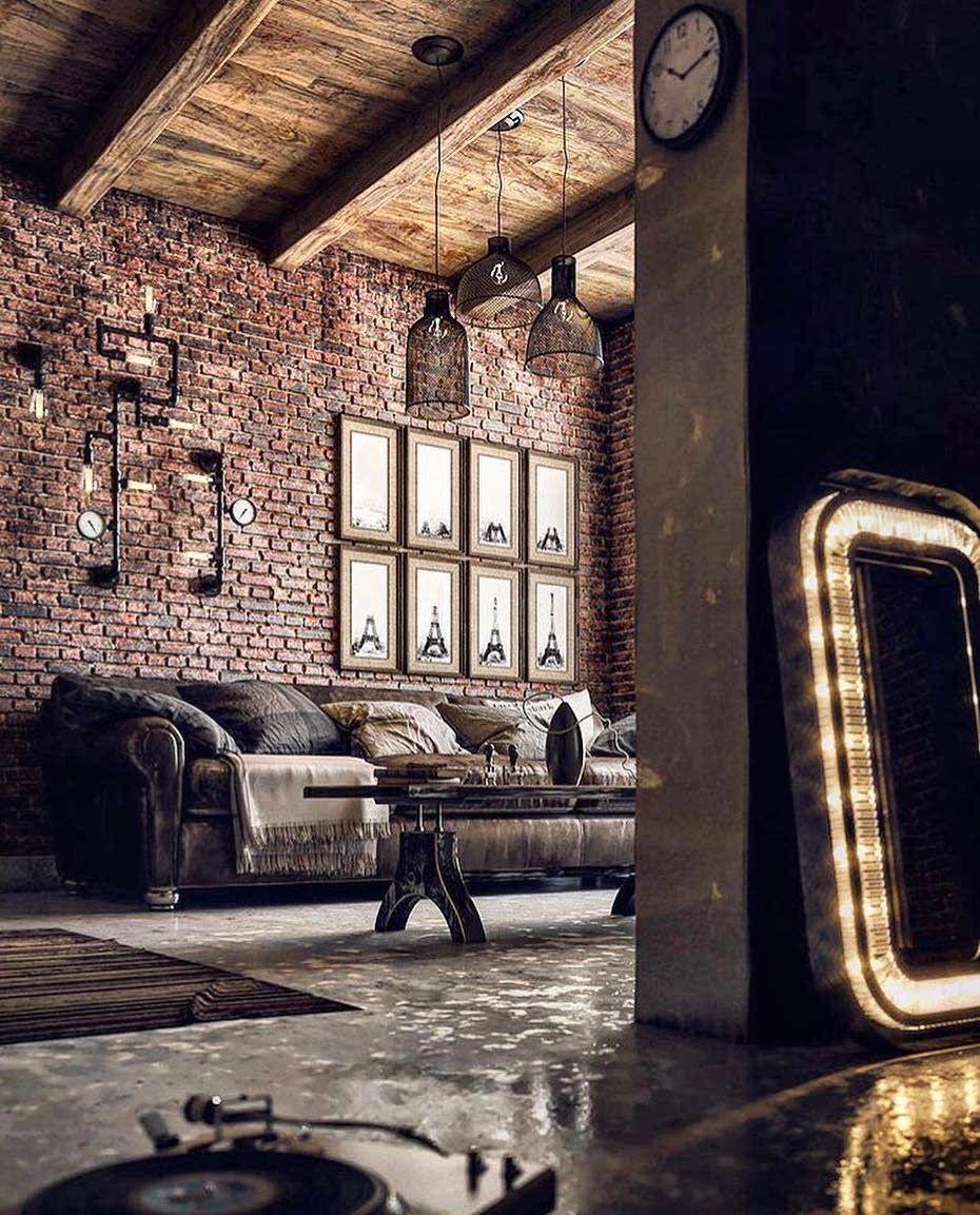 Rustic Industrial Decor Industrial House Industrial Interior Design Indu In 2020 Industrial Interior Design Industrial Bedroom Design Vintage Industrial Decor