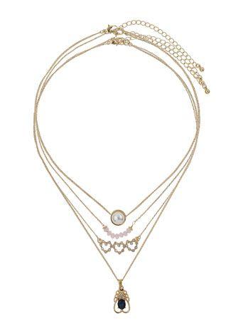 Halsketten mit Schmucksteinen im Set