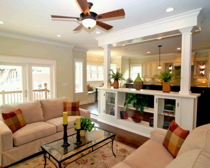 Kitchen Open Beyond In The Living Room Design Idea Country Also