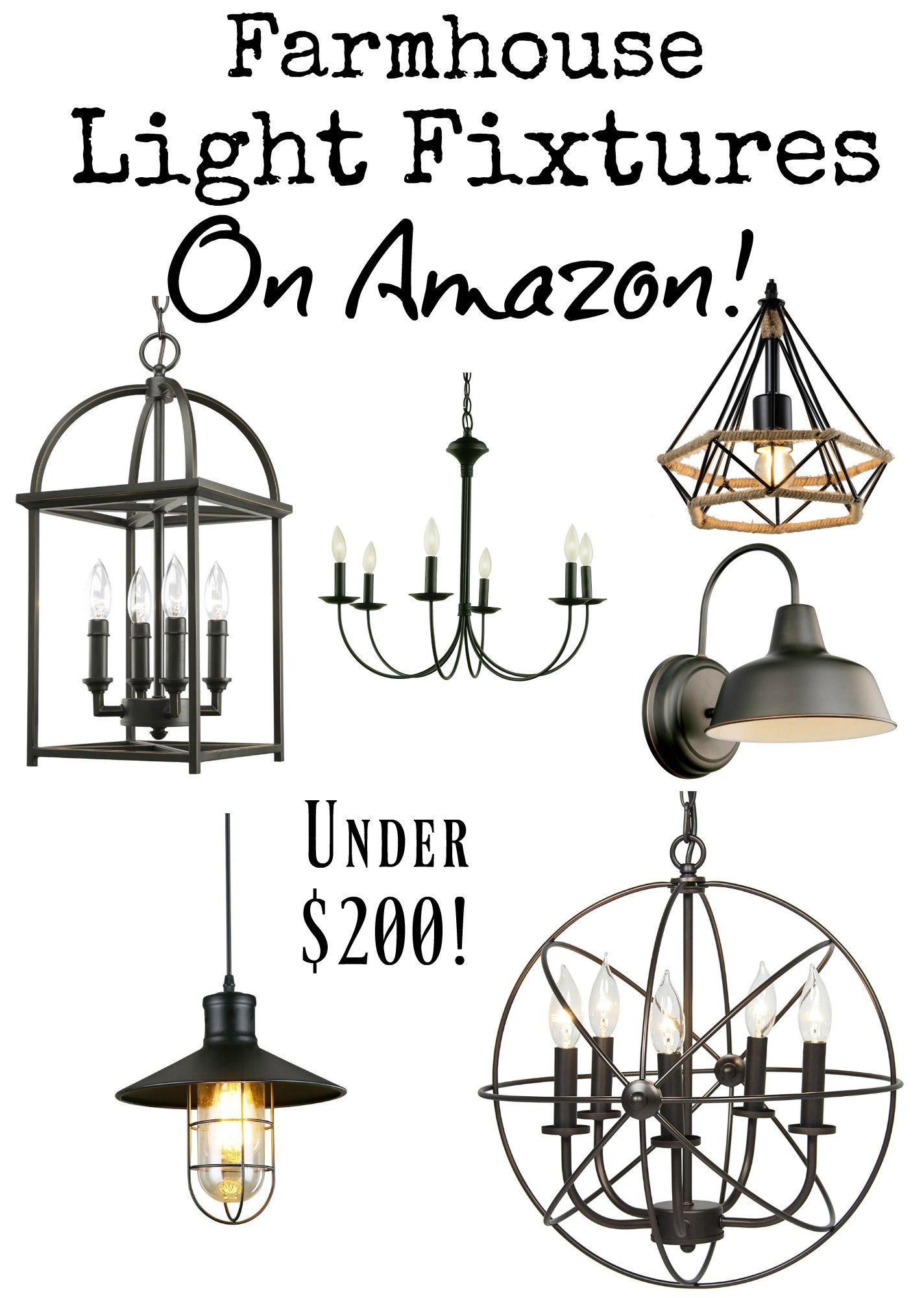 Farmhouse Light Fixtures under 200 {on Amazon