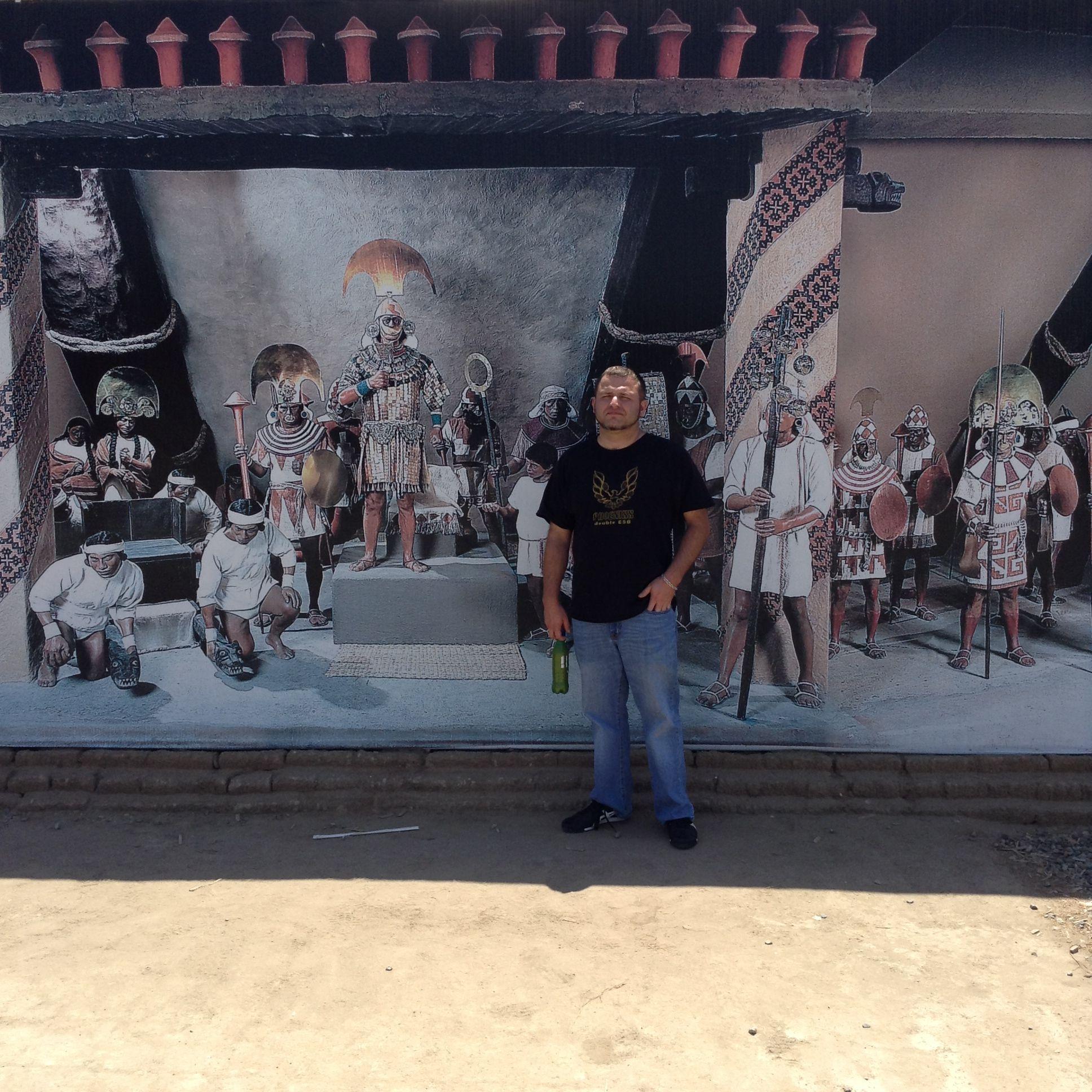 Cool mural at the museum in Tucume, Peru...