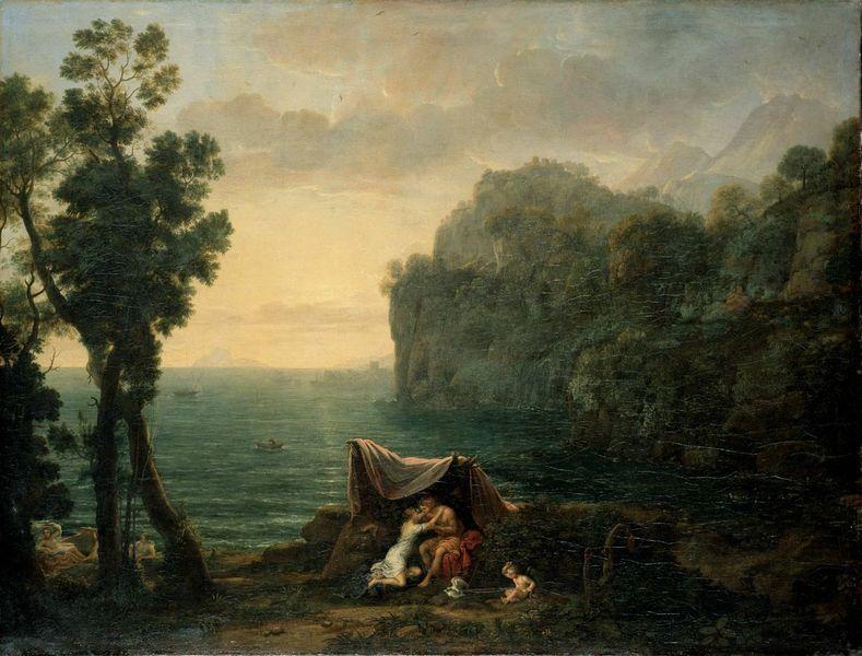 Claude Lorrain Landschap Met Acis En Galatea Van 1000