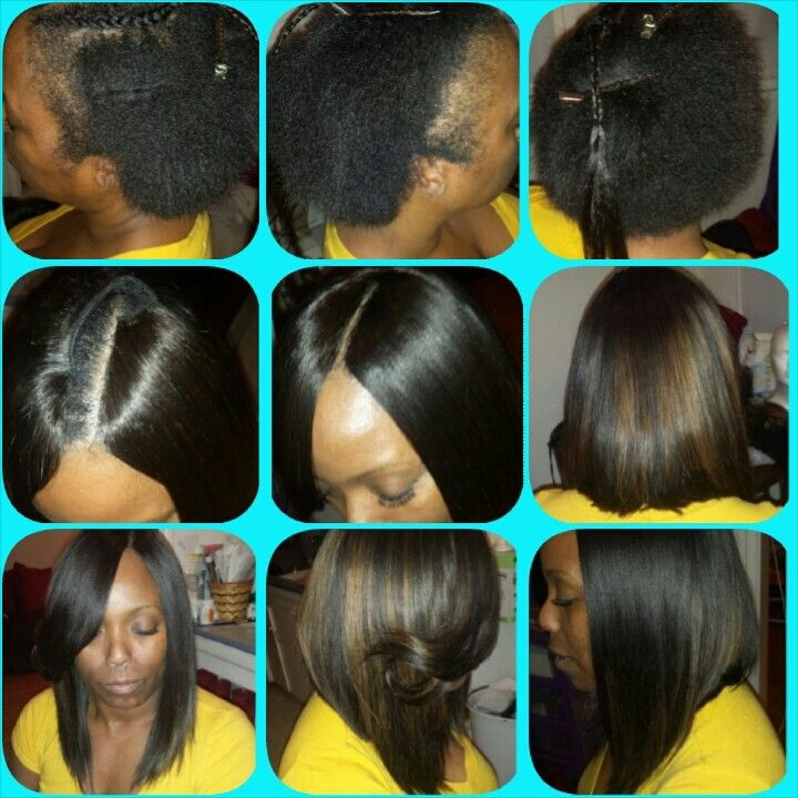 Full Quick Weave w/invisible part | Quick weave, Short quick weave hairstyles, Long weave hairstyles