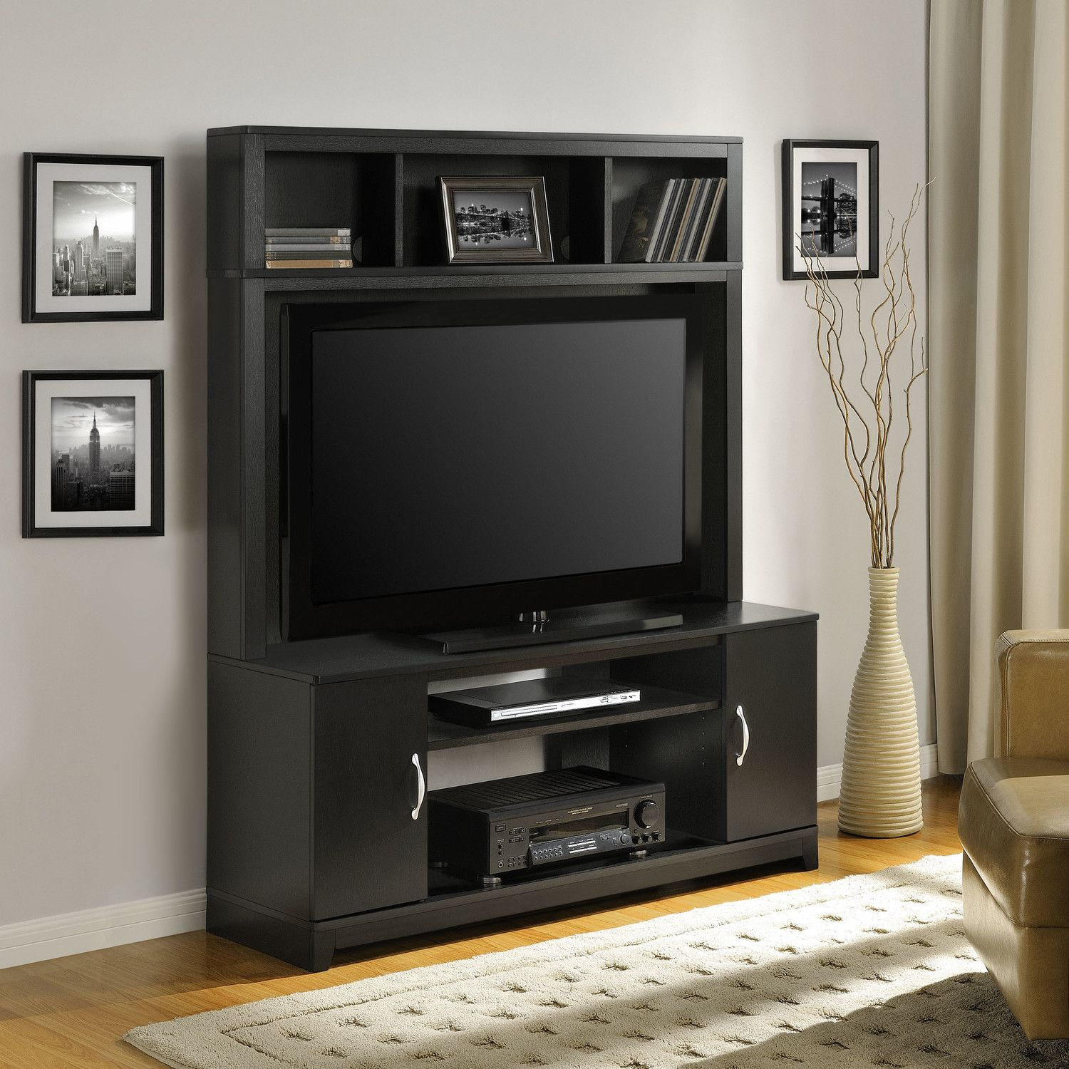 Cabinets Dvds Video And Gaming Accessories Lower Shelves Hold Av Components Consoles Upper Storage On Hutch Accommoda