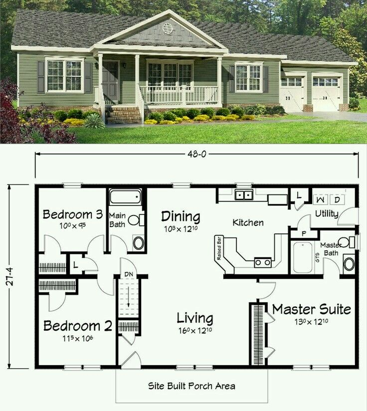 Love This Plan Ranch Style House Plans Floor Plans Ranch Basement House Plans