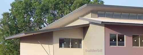 Home with multiple with intersected skillion lean to for Clerestory roof design