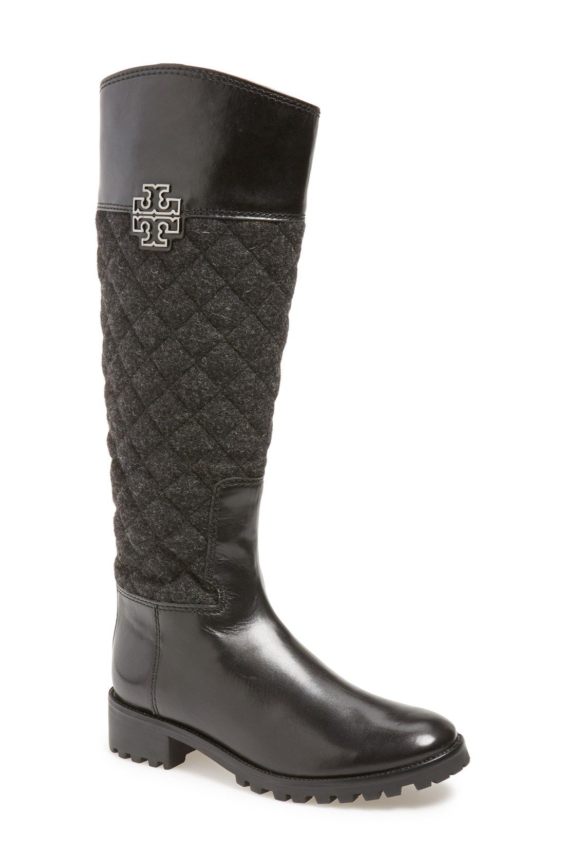 e18fd94ab6f Swooning over these quilted riding boots by Tory Burch.