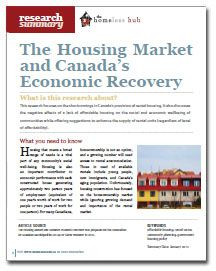 The housing market and canada   economic recovery homeless hub research summary series http also best social science images on pinterest rh