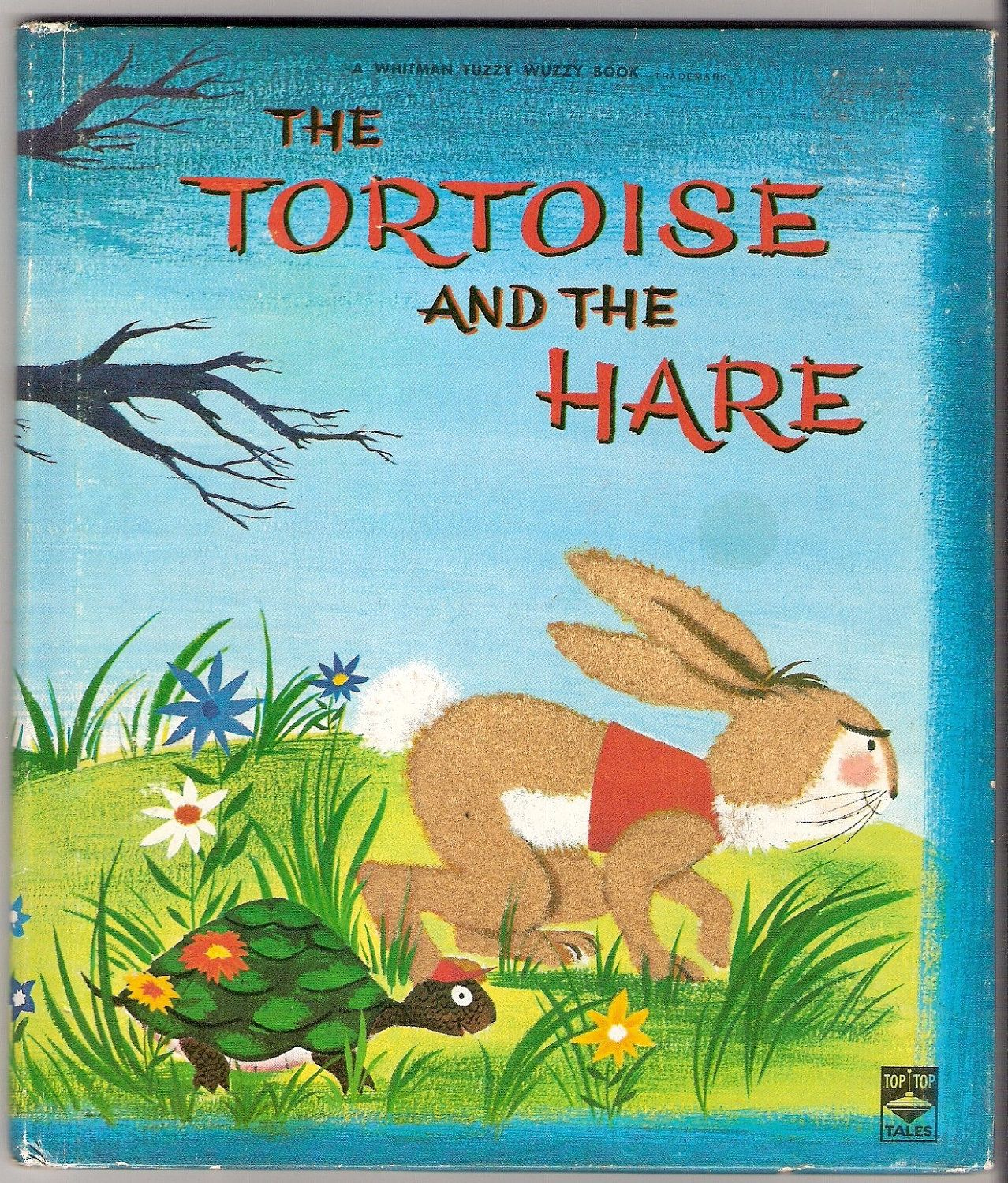 The TORTOISE and the HARE Whitman Fuzzy Wuzzy Book Illustrated by ...