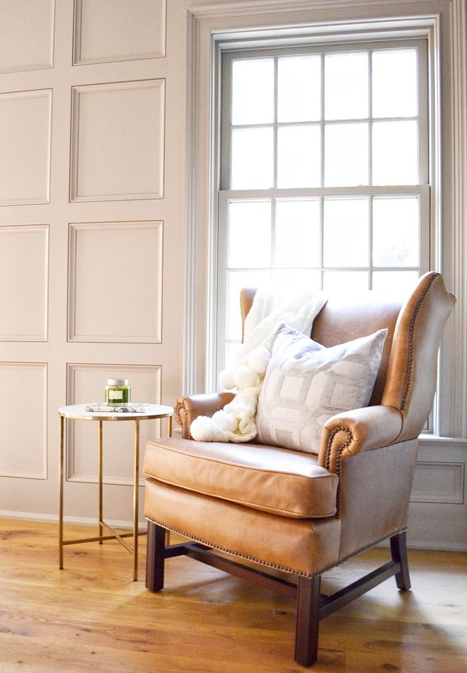 Thatcher Leather Wingback Chair In Toffee From Pottery