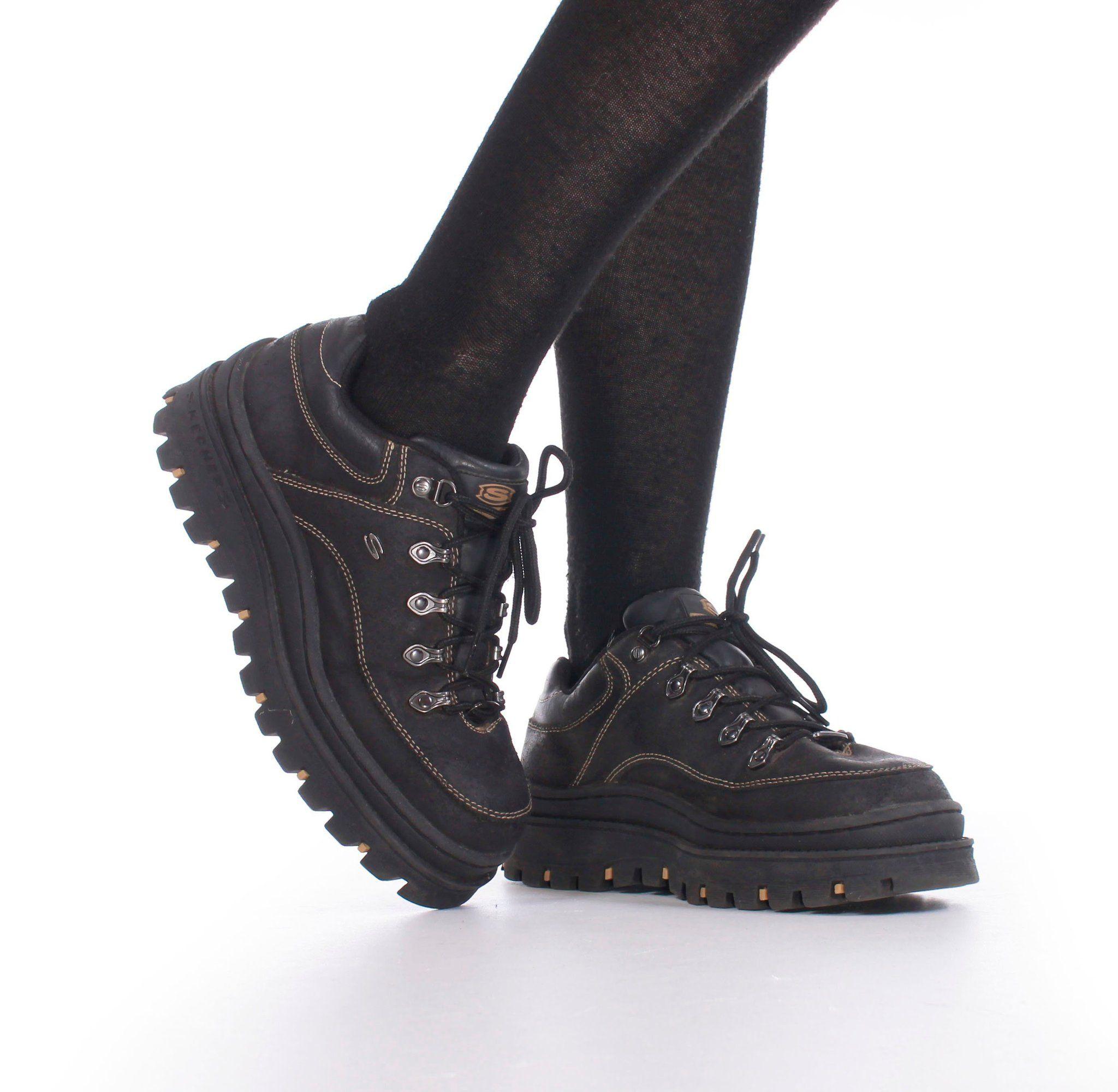 0f7ab089a0bd 90 s Platform Skechers Jammers Boots Women s Size 9.5 – KCO VINTAGE Black  Shoe Polish