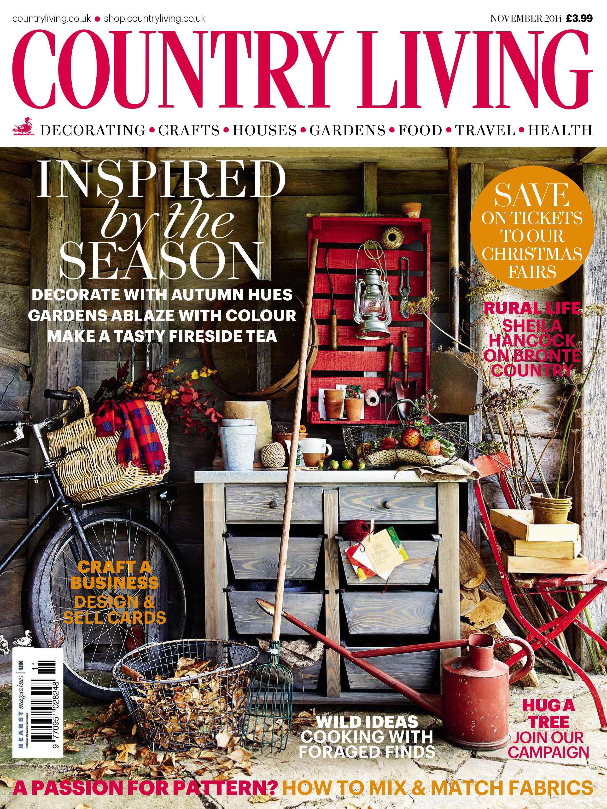 Country Living Magazine November 2014 Cover Countryliving Co Uk Country Living Country Living Uk Country Living Magazine