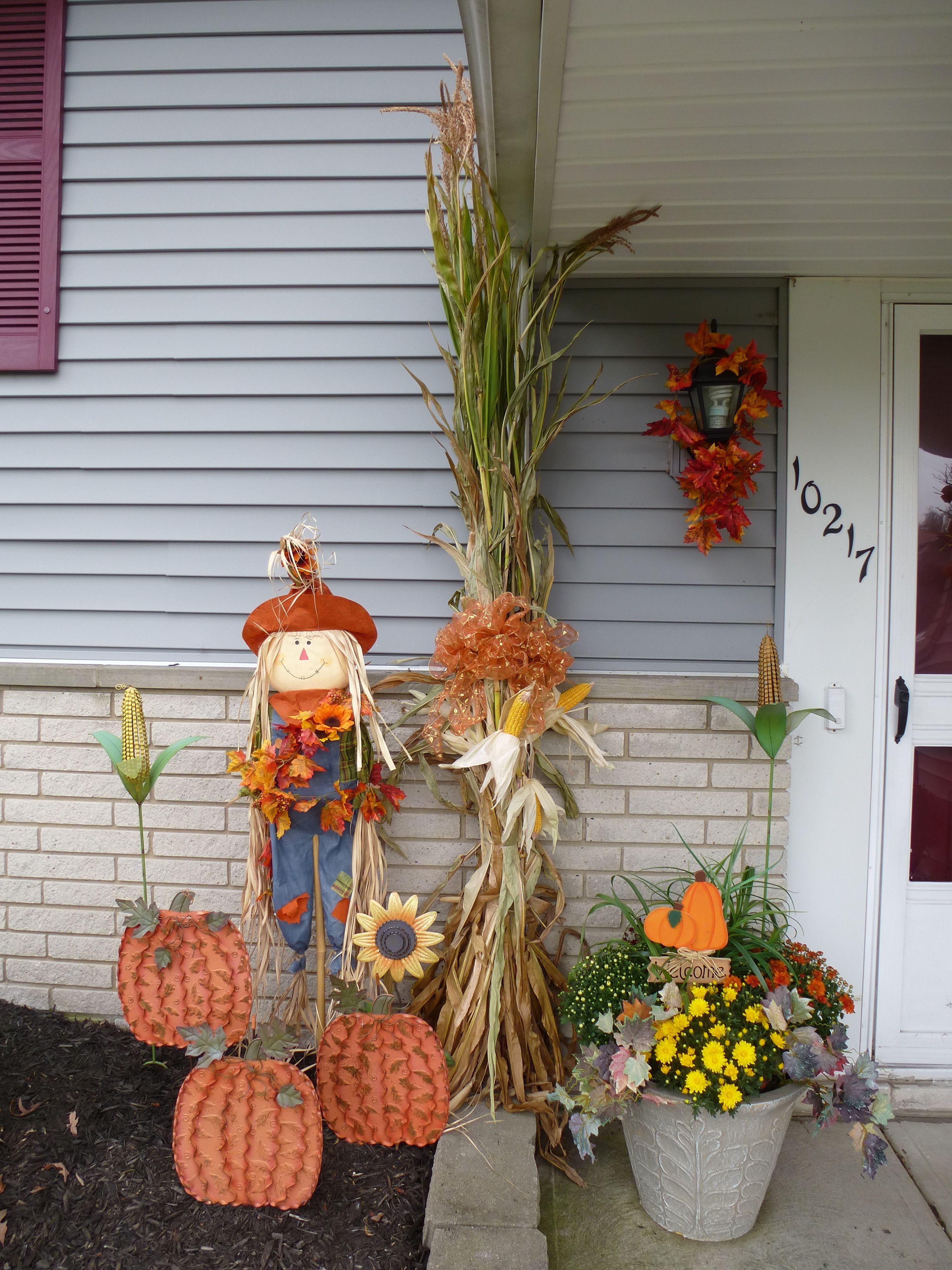 Autumn Outdoor Decor (With images) Halloween door