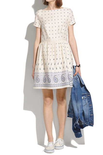 9 So-Pretty Dresses For Sunny Spring Days #refinery29  http://www.refinery29.com/best-sundresses#slide4  I can totally see myself wearing this frock on my next trip for The Little Market. Too cute.Madewell Nomad Paisley Dress, $168, available at Madewell.