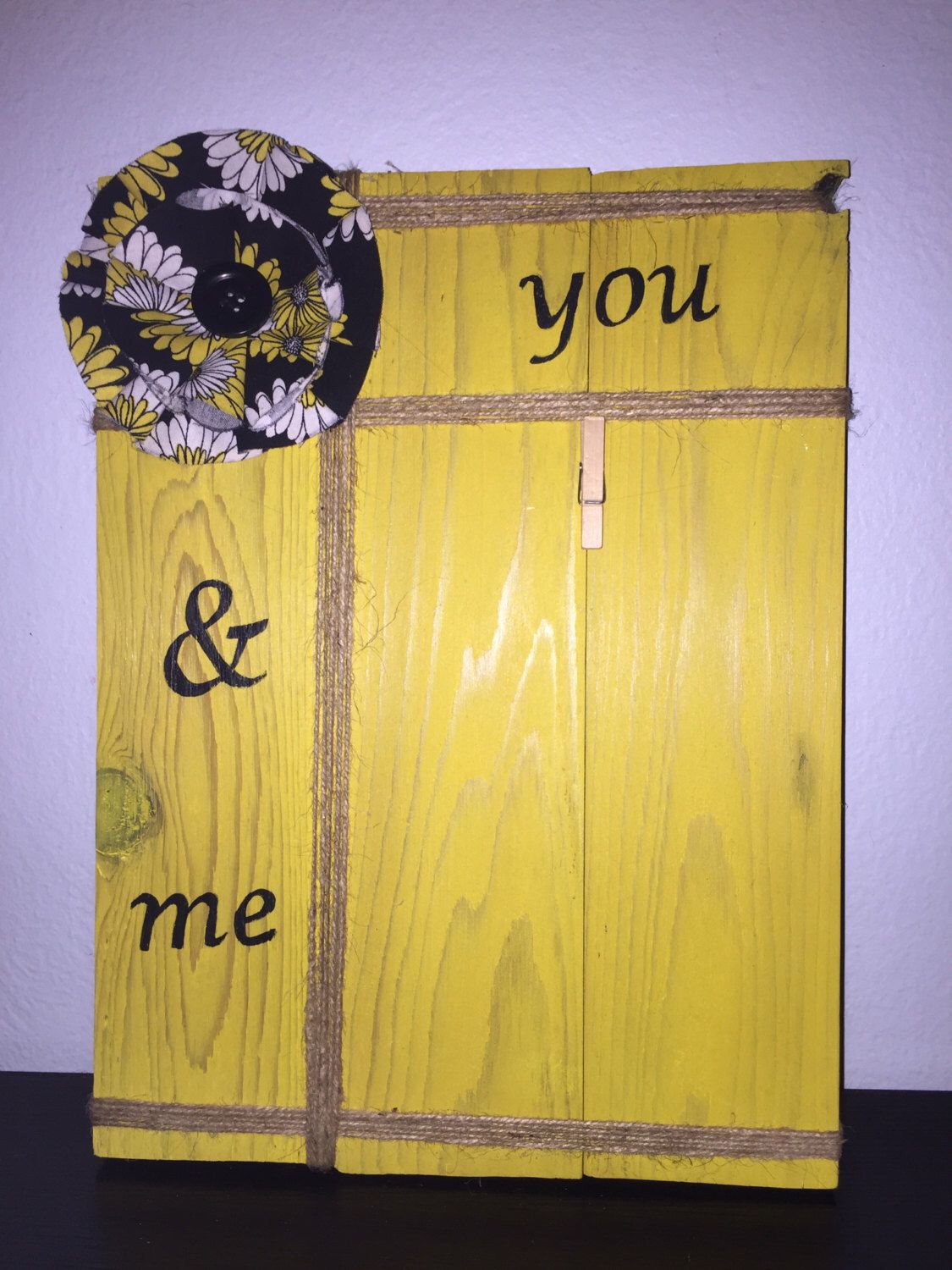 You & Me Wall Hanging Photo Frame holds a 5x7 photo - handcrafted ...