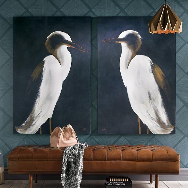 White Heron Wall Art Grandin Road Tufted Bench Tufted Wall Art
