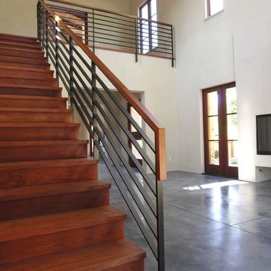 Best Metal Stair Rail Wide Thin Bars Horizontally Stair 400 x 300