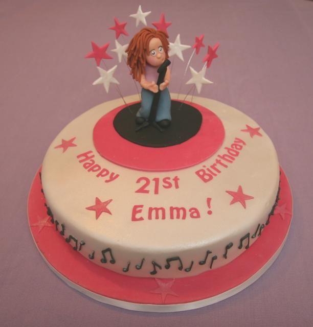 21st Birthday Cake - Singer
