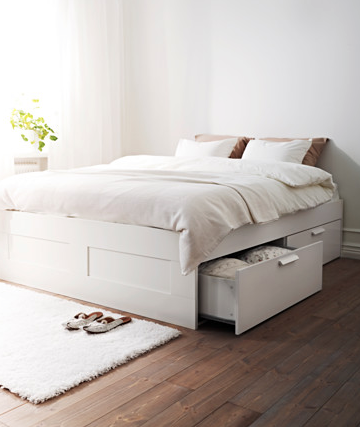 Ikea Bed 250 Http Www Ikea Com Us En Catalog Products S09007554 Bed Frame With Storage White Bed Frame Ikea Bed Frames