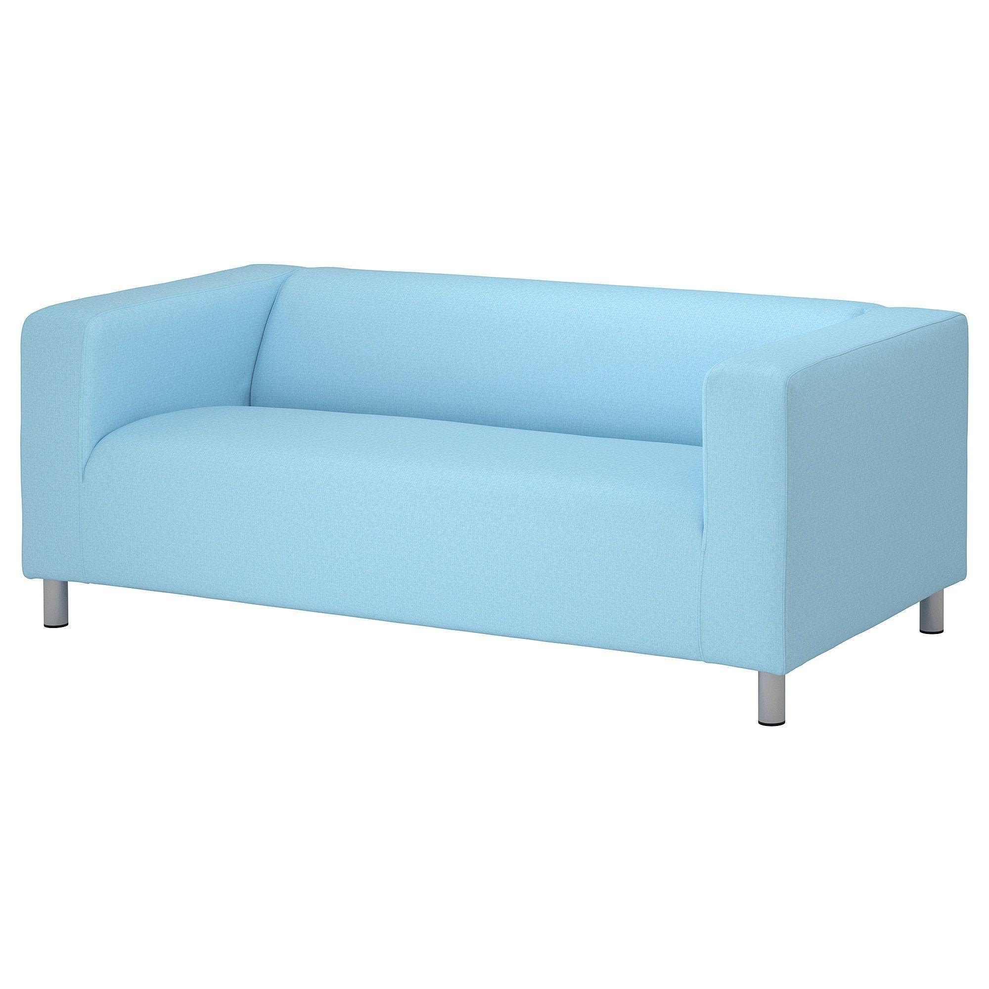 Ikea Klippan Cover For Loveseat Vissle Light Blue In