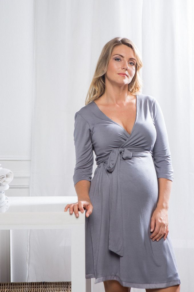 929b6faf7c1c3 Mirage Wrap Dress / Labour Wrap - Grey | What to wear for my mamas